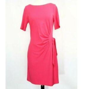 White House Black Market Dress WHBM sheath pink